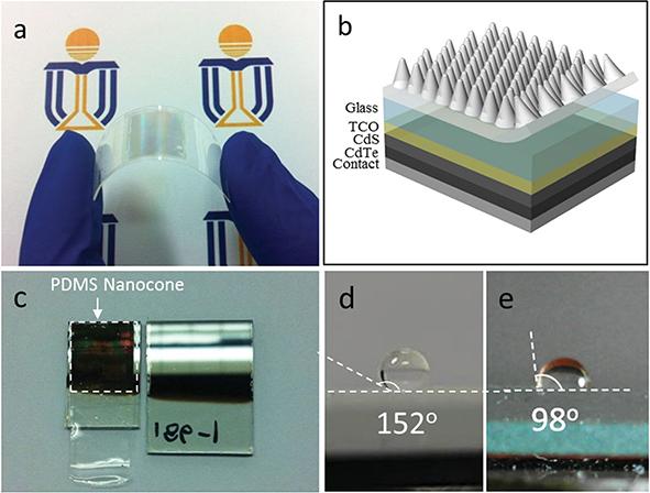 AAO模板制备PDMS功能性研究